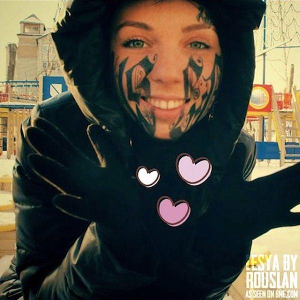 42328 Face Tattoo 4 Pics