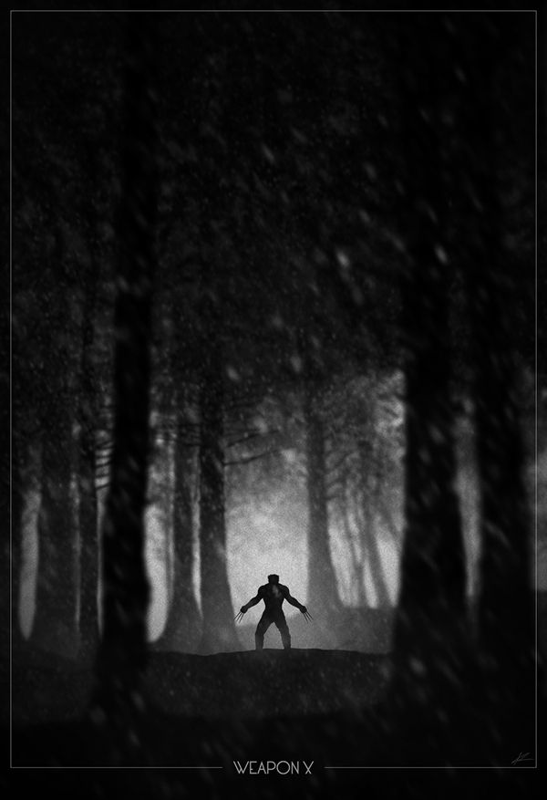 Superhero Noir Posters (10 pics)