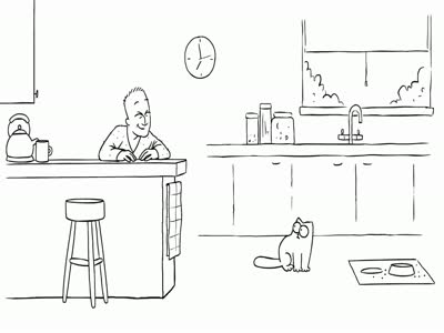 Funny Simon's Cat in 'Feed Me' Animation