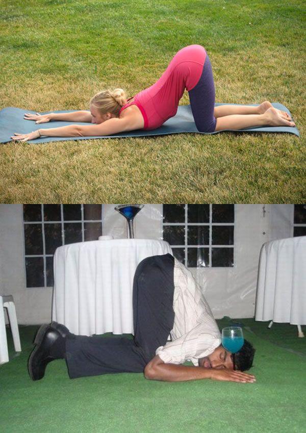 Drunk Yoga (10 pics)