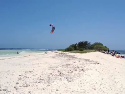 High Kite Surfing Flight