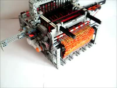 Hand-Made LEGO Loom Machine