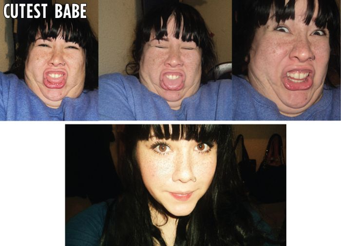 Pretty Girls Ugly Faces. Part 2 (50 pics)