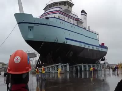 Scary Launching New Ship