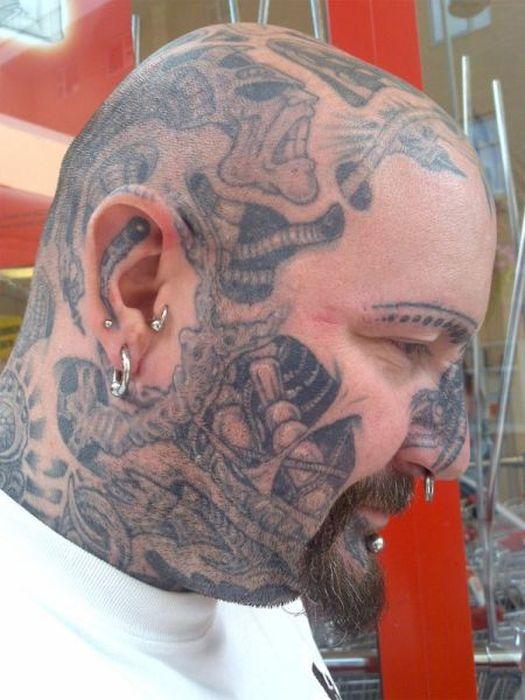 Tattoo freaks 80 pics for Full head tattoo