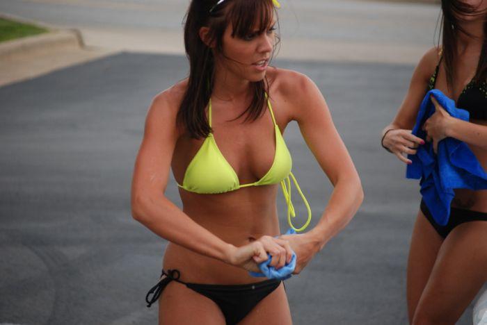 Amateur Bikini Car Wash. Part 2 (64 pics)