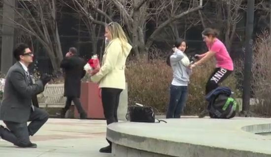 Funny Valentines Day Wedding Proposal Prank