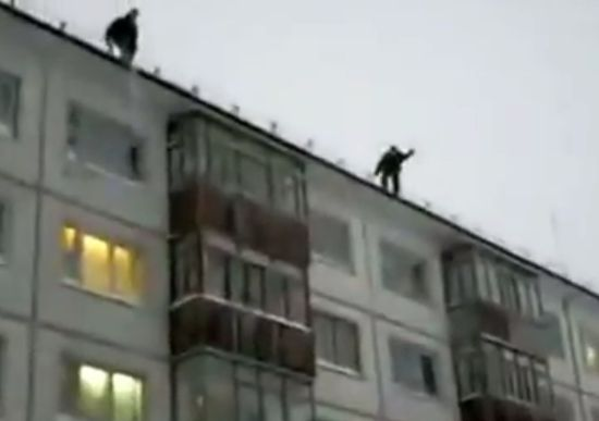 Crazy Russian Boys Jumping From The Roof