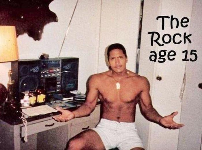 Dwayne Johnson (The Rock) Age 15 (3 pics)