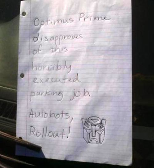Notes Left On Car Windshields (20 pics)