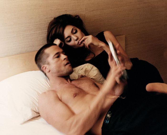 Brad Pitt and Angelina Jolie in Domestic Bliss (40 pics)