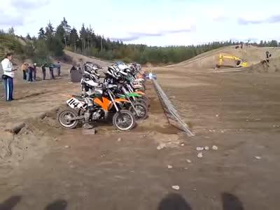 Motocross Start Gone Wrong
