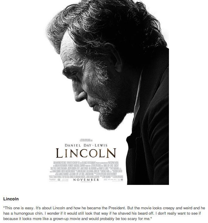 1st-Grader Reviews Oscar Movies (9 pics)