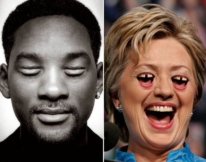 Celebrities With Moutheyes and Eyemouths (17 pics)