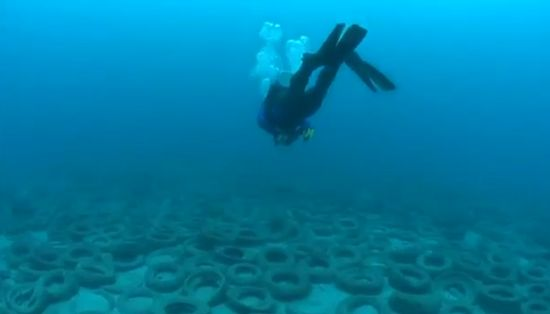 Thousands Tires Thrown into Ocean in Florida