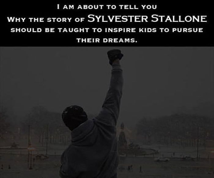 Sylvester Stallone is an Inspiration to Us All