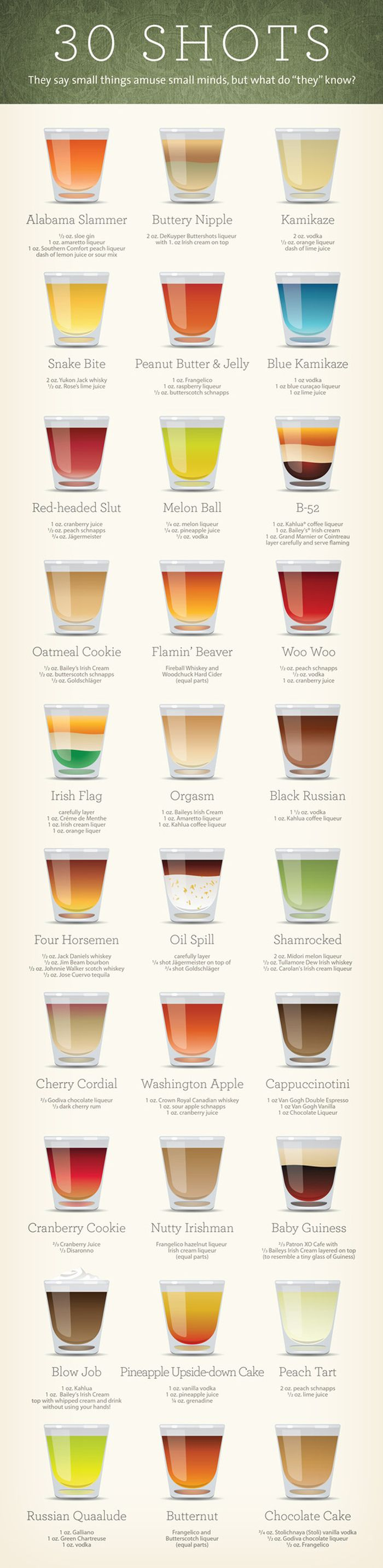 30 Shots Infographic (infographic)