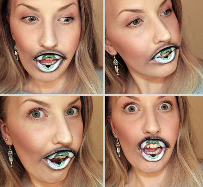 Creepy Lip Makeup (4 pics)