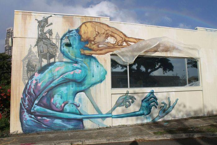 گرافیتی ، نقاشی و طراحی روی دیوار