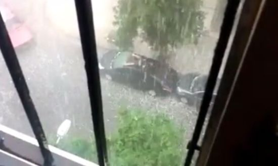 Weird Way to Protect a Car From Hail
