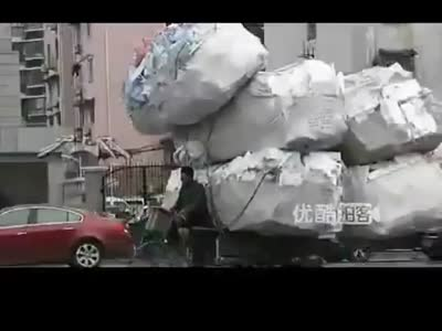 Weird Transportation Way in China
