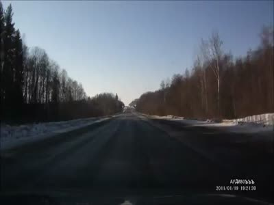 Car Crash on The Icy Road