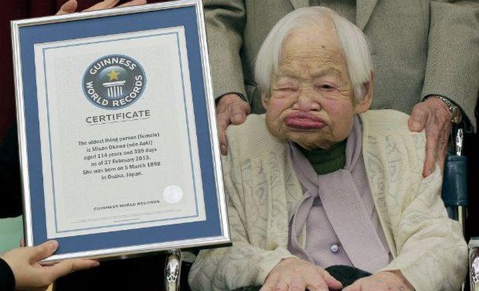 World's Oldest Woman Misao Okawa (6 pics)