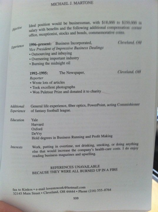Hilarious Resumes (22 pics)