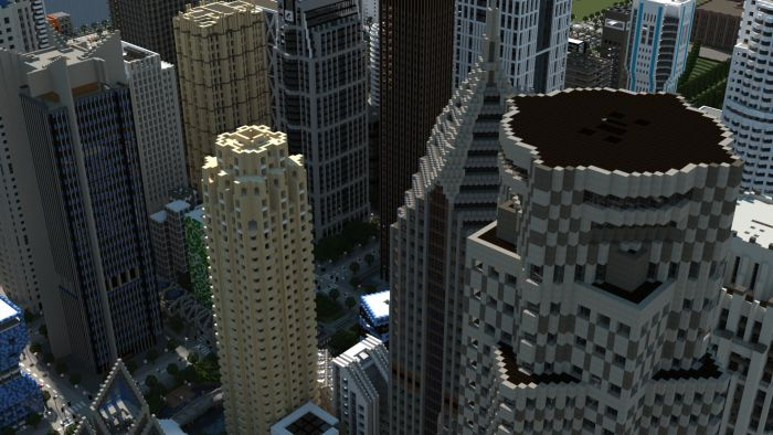 Minecraft City (20 pics)
