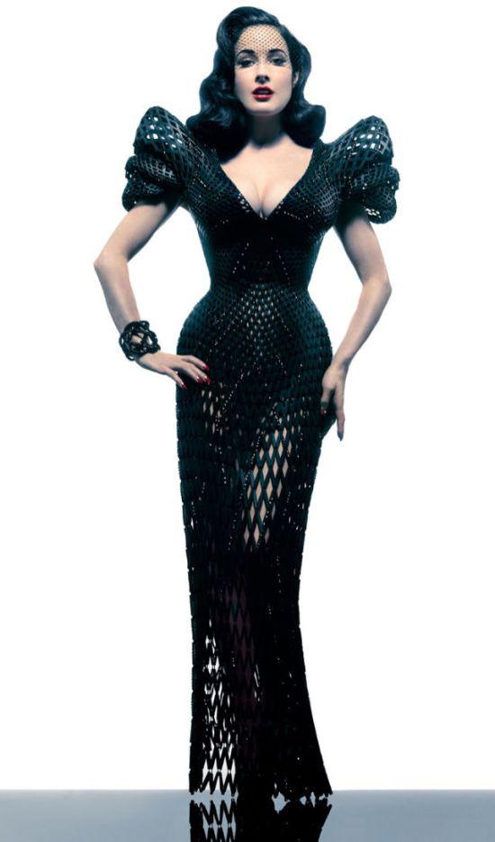 3D Printed Dress of Dita Von Teese (12 pics)