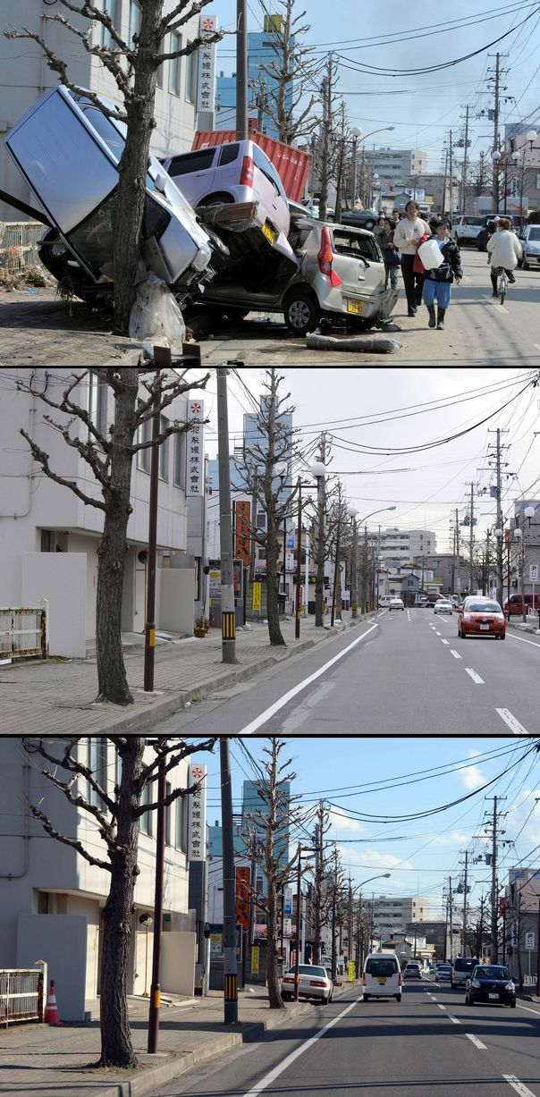 Japan Before and After Tsunami (38 pics)