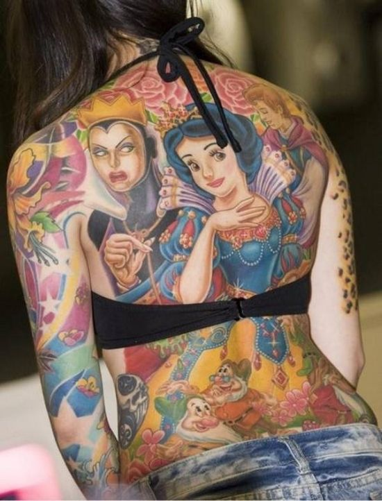 Strange Disney Inspired Tattoos (30 pics)