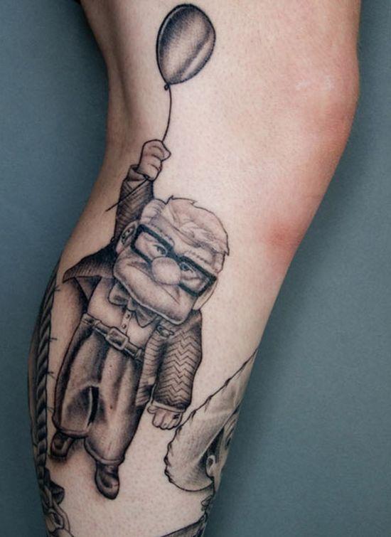Strange Disney Inspired Tattoos (30 pics)