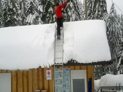 Cleaning The Roof of Snow Gone Wrong