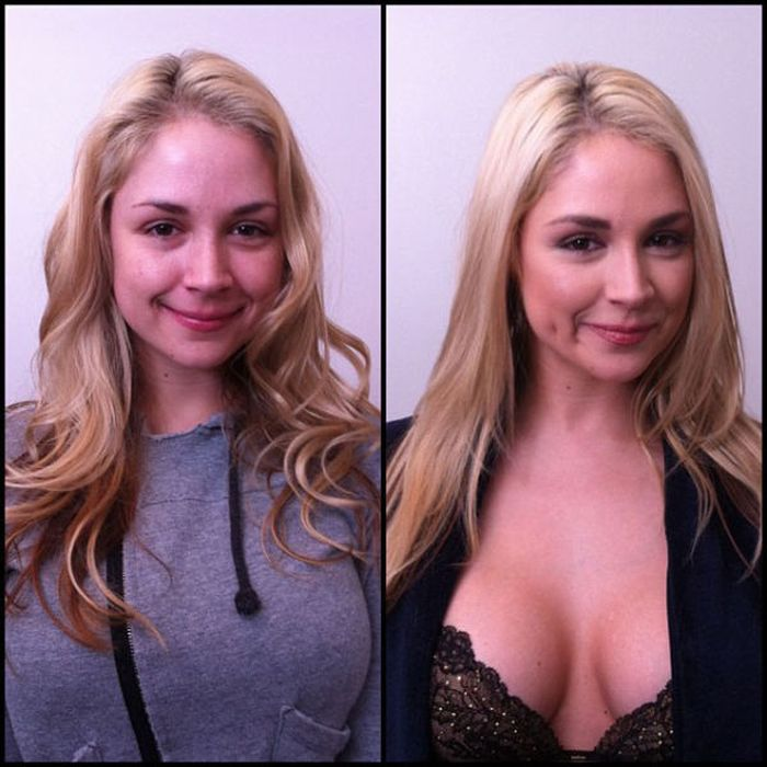 Adult Actresses With and Without Make-up (93 pics)