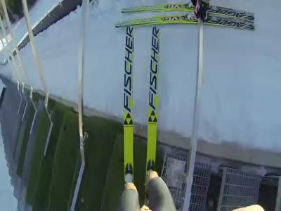 Weird Naked Ski Jumpers