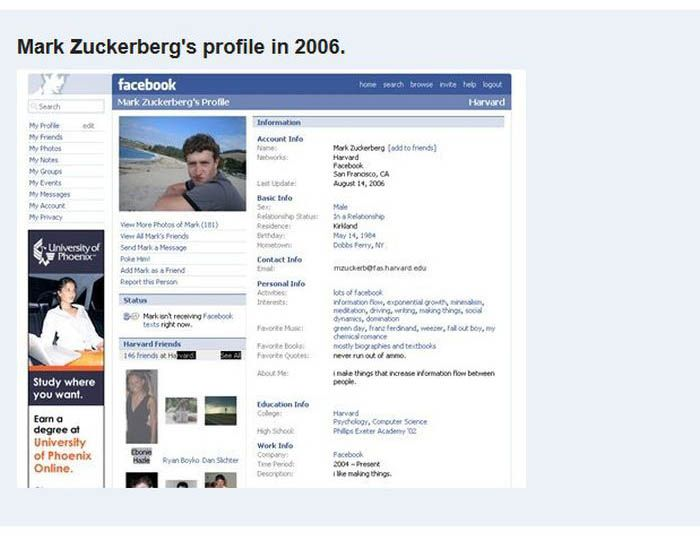 Facebook Evolution (12 pics)