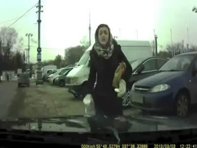 Rage Pedestrian Girl