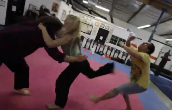 Girl Shows Awesome Fighting Skills Performance