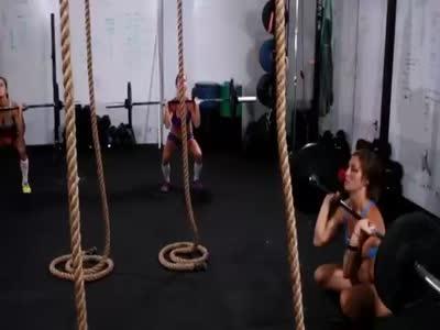 Girls Workout Hard in GYM