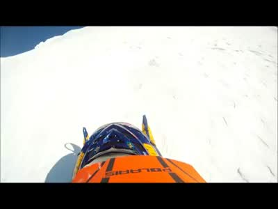 Scary Snowmobile Close Call