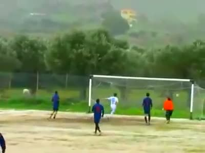Great Soccer Goal Save