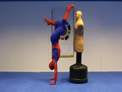 Spiderman Shows Taekwondo Skills