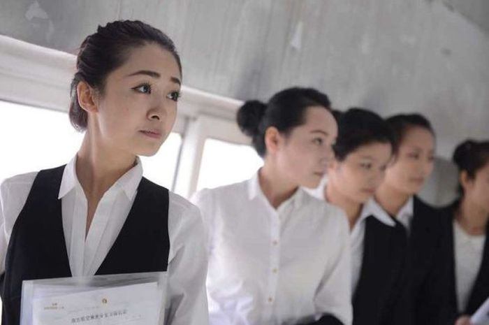 Castings for Stewardesses in China (24 pics)