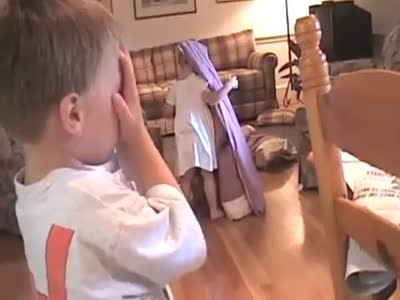 Funny Kids Playing Hide and Seek