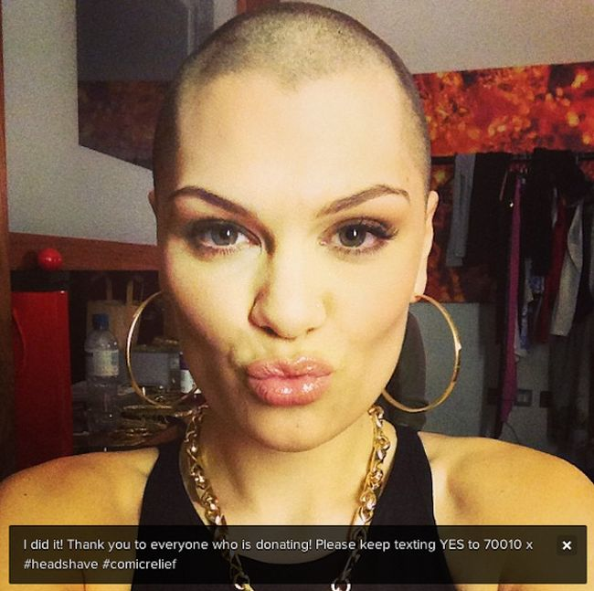 Jessie J Shaved Her Head (4 pics)