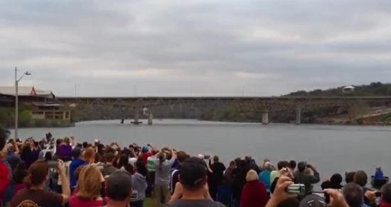 Demolition of The Marble Falls Bridge Over The Colorado River