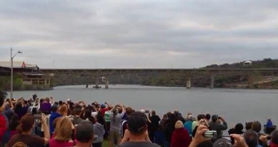 Demolition of The Marble Falls Bridge Over The Colorado River