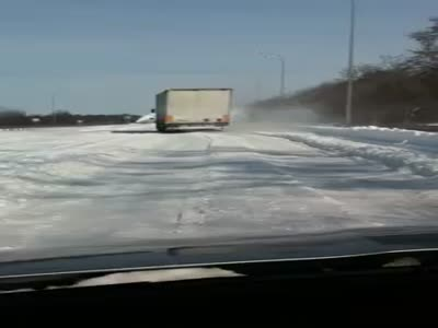 Strange Way to Remove Snow from a road in Ukraine