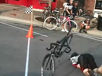 Weird Way to Cross The Finish Line
